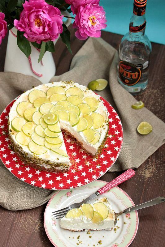 Caipirina Torte oder No-Bake Limetten Schmandtörtchen ~ SASIBELLA