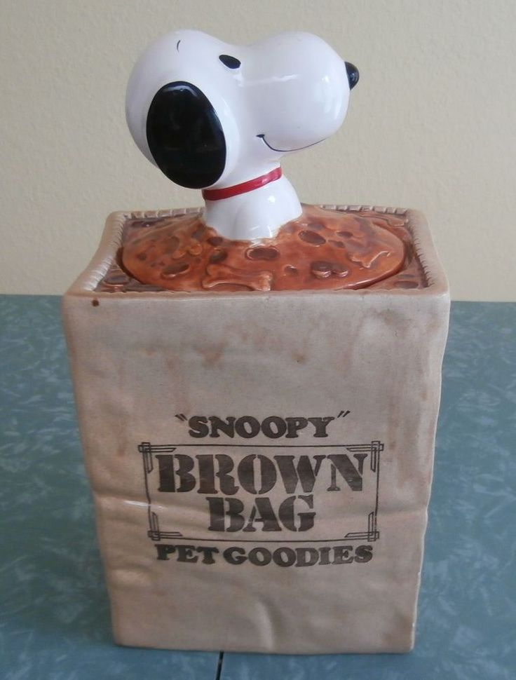 Vintage Snoopy Cookie Jar Made In Taiwan For Conagra