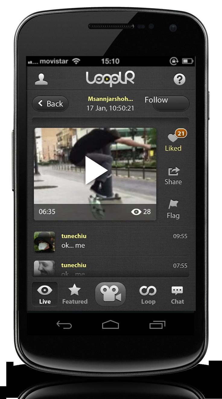 Looplr Video Page Screenshot.  Get the Looplr App Now  www.looplr.com