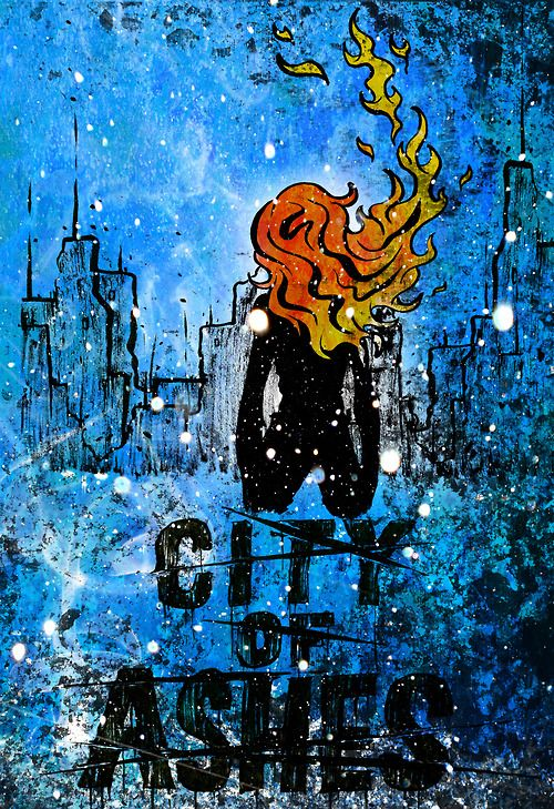 83-1057:  city of ashes ver. 2(©Cassandra Clare) ink on bristol + photoshop