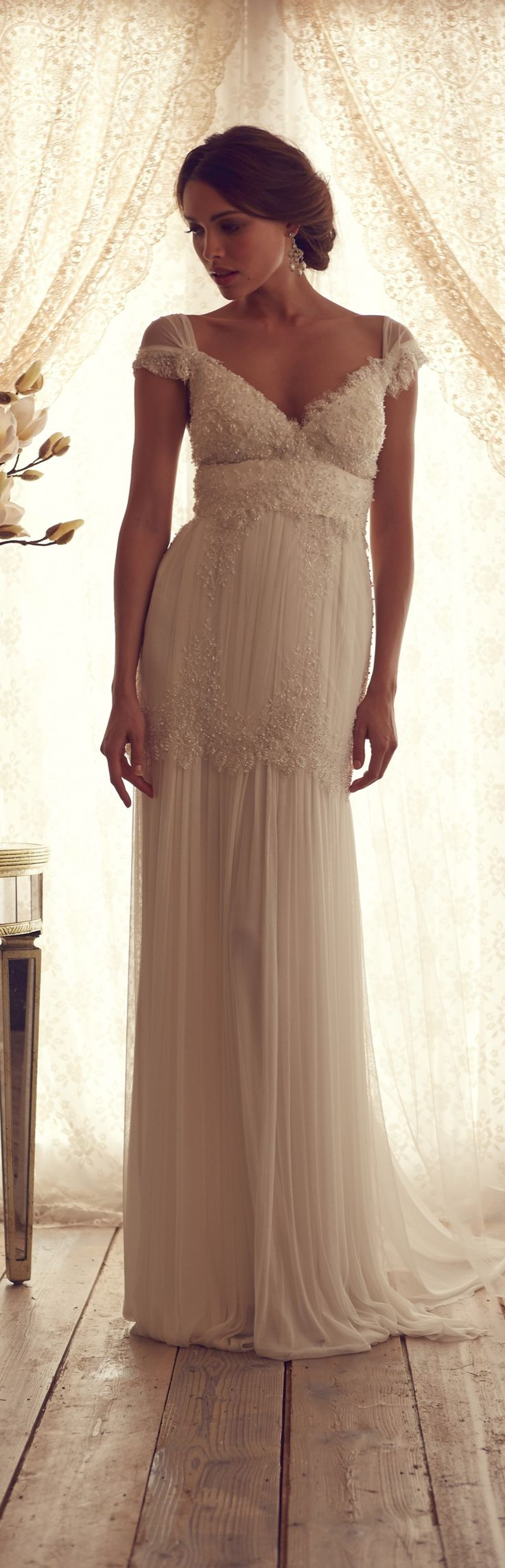 This is the most beautiful wedding dress I have ever seen! I want to marry my husband all over again just so I can wear this dress...LOL!!!  Anna Campbell Gossamer Collection