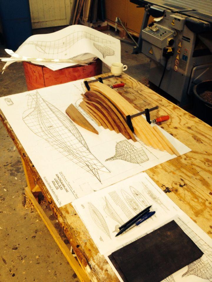 Making a half hull model | Boatbuilding | Pinterest ...