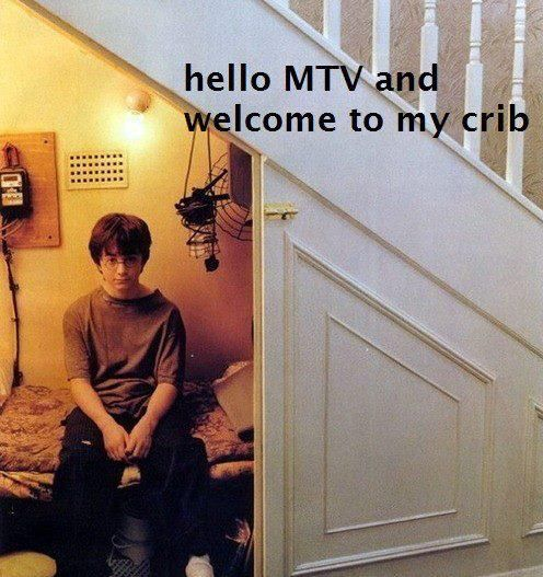 MTV Cribs.: Magic, Stairs, Mtvcribs, Cupboards, Mtv Cribs, Closet, So Funny, Harry Potter Humor, Poor Harry