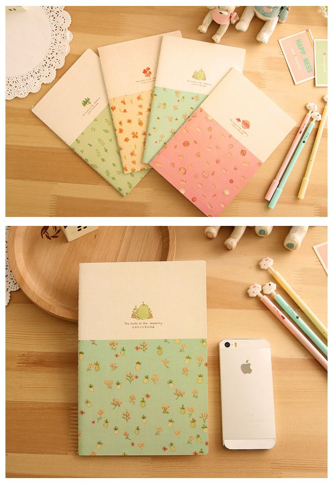 Notebooks | korean stationery | Season | Notepad | Kawaii | Compact | Memory | Lines – TodTots