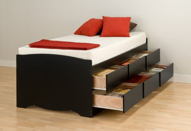Black Tall Twin Captain's Platform Storage Bed with 6 Drawers – Wholesale Furniture Brokers