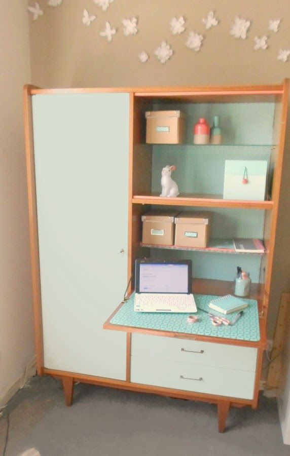 Les 25 meilleures id es de la cat gorie secretaire vintage for Customiser un meuble bureau