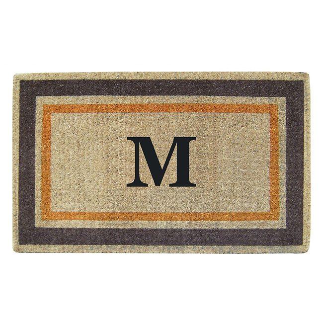 Enterprises Handmade Monogrammed Double Picture Frame Orange Door Mat