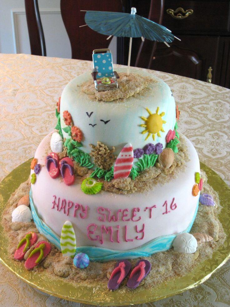 Beach Theme Cake :: Paula's Patisseries