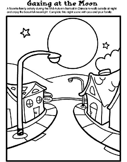 moon festival coloring pages - photo#18