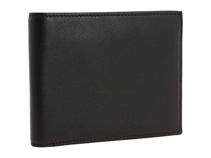 0be3bb07a1f0 Bosca Essential's Men's Nappa Leather Executive Bifold Credit Card ...
