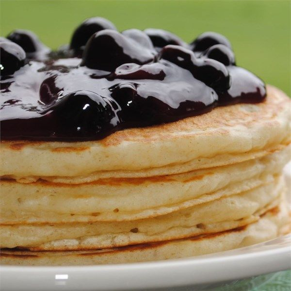 """Buttermilk Pancakes II   """"I wish I could give this ten stars!! This is the best pancake recipe ever! I made the whole recipe, and froze the left overs, putting a square of waxed paper between each pancake."""" #recipe #entertaining #holidays #mardigras"""