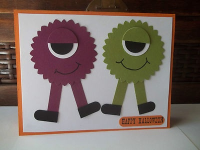 89 best children birthday cards images on pinterest for kids stampin up handmade greeting card halloween birthday monsters paper piece py lot bookmarktalkfo Images