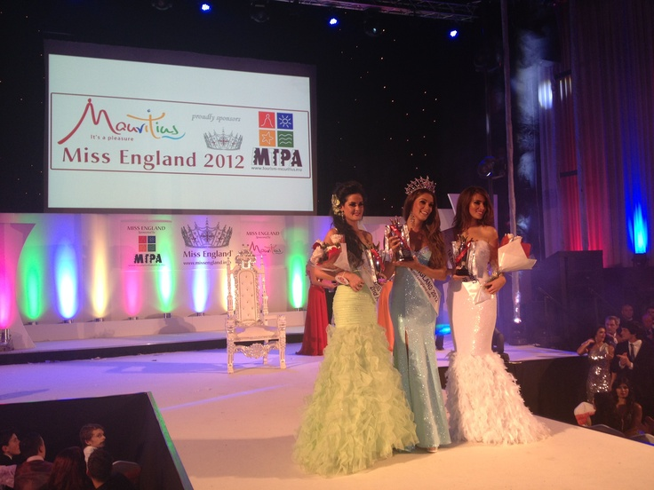 Miss England 2012, Charlotte Holmes and the two runner ups.