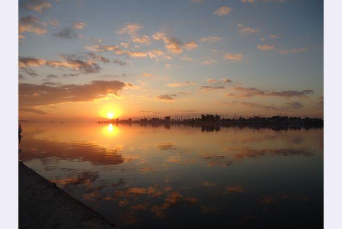 Mooie zonsopkomst over het Veerse Meer