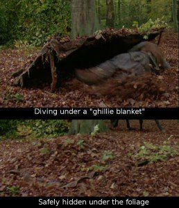 Diving under a ghillie blanket!!