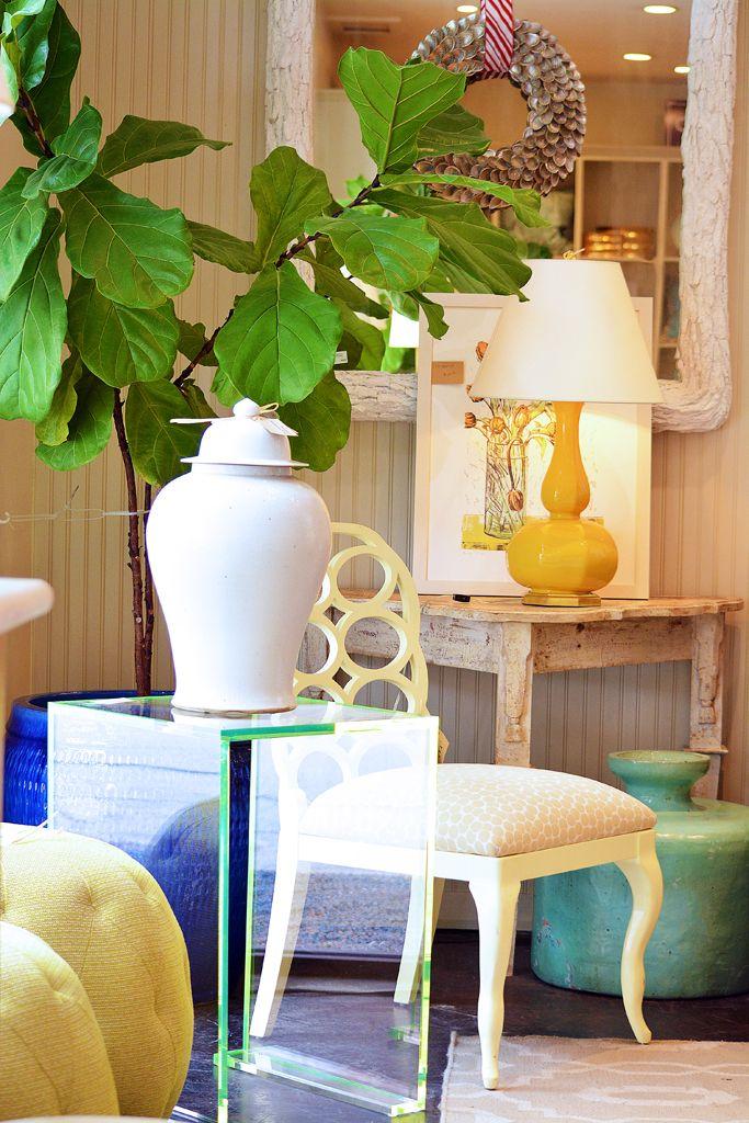 Mecox Dallas Lucite Side Table Vignette Interiordesign