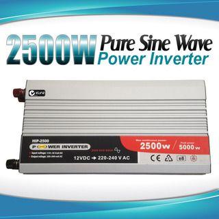 Pure Sine Wave Power Inverter 2500w / 5000w 12v - 240v AUS plug Car Boat Caravan