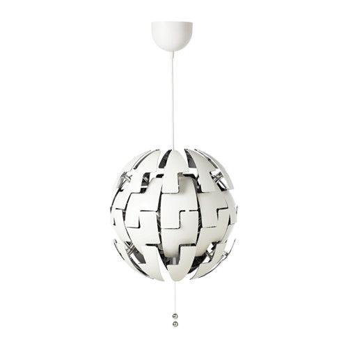 IKEA - IKEA PS 2014, Hanglamp, , Je wisselt eenvoudig tussen sterkere algemene verlichting en zachtere sfeerverlichting door aan de touwtjes te trekken.Geeft muren en plafond een decoratief patroon.