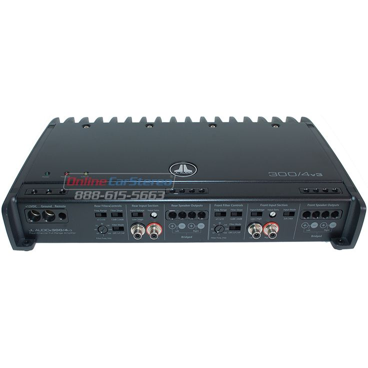 JL Audio 300/4v3 - 300W RMS 4-Channel Class A/B Car Audio Amplifier - $419.00