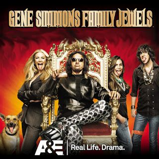 GENE SIMMONS FAMILY JEWELS | An American reality television series that premiered on A&E on August 7, 2006. The show follows the life of Kiss bassist and vocalist Gene Simmons, his longtime partner and wife Shannon Tweed, and their two children, Nick and Sophie. In August 2012, A&E announced the seventh season will be the last, and Simmons added that he will not shop the series to other networks and, instead, will focus on the Kiss tour and other business commitments.