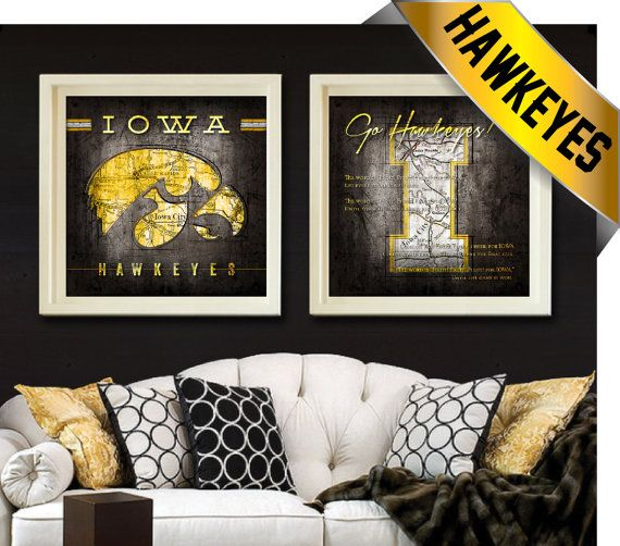 Proudly Display Your Iowa Hawkeyes With These Vintage Style City Maps 2