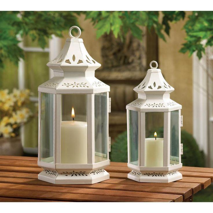 Wedding: White Victorian Candle Lanterns #White #VictorianStyle