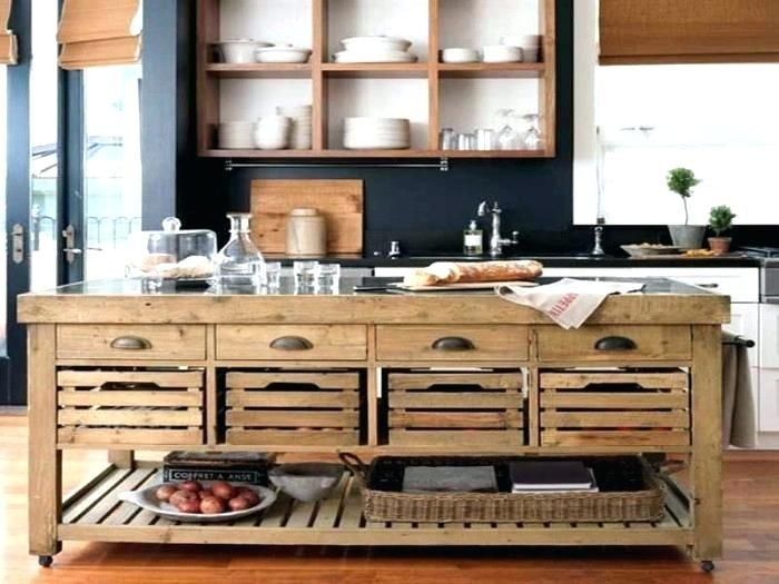 Oak Kitchen Cart Large Kitchen Island On Wheels Fresh Kitchen Island Carts And Large Kitchen Islan Rustic Kitchen Island Country Kitchen Designs Rustic Kitchen