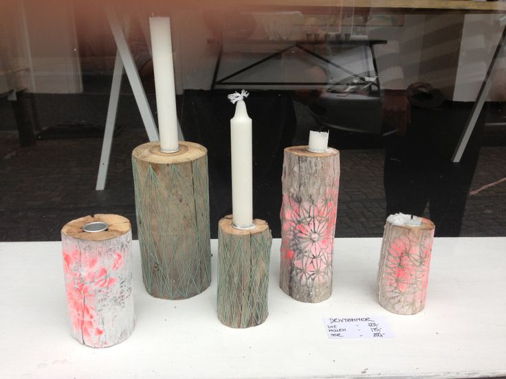 MADE BY ME - WOOD CANDLEHOLDER