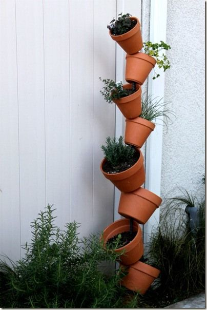 DIY: Vertical Gardening - I might paint these different colors!