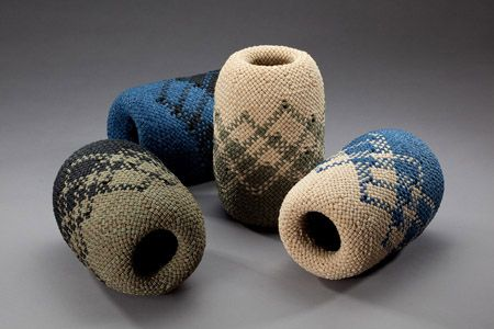 Fraser Fiber Art - split ply braided forms