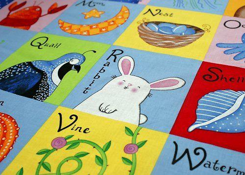 Baby abeceda - nažehlovací textilní obrázky