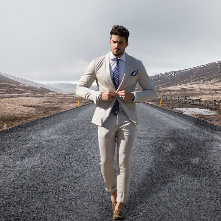 Mariano Di vaio • Summer beige suit • men's fashion shop on www.nohowstyle.com