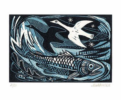 Beautiful wood engravings and lino cuts- Mark Herald