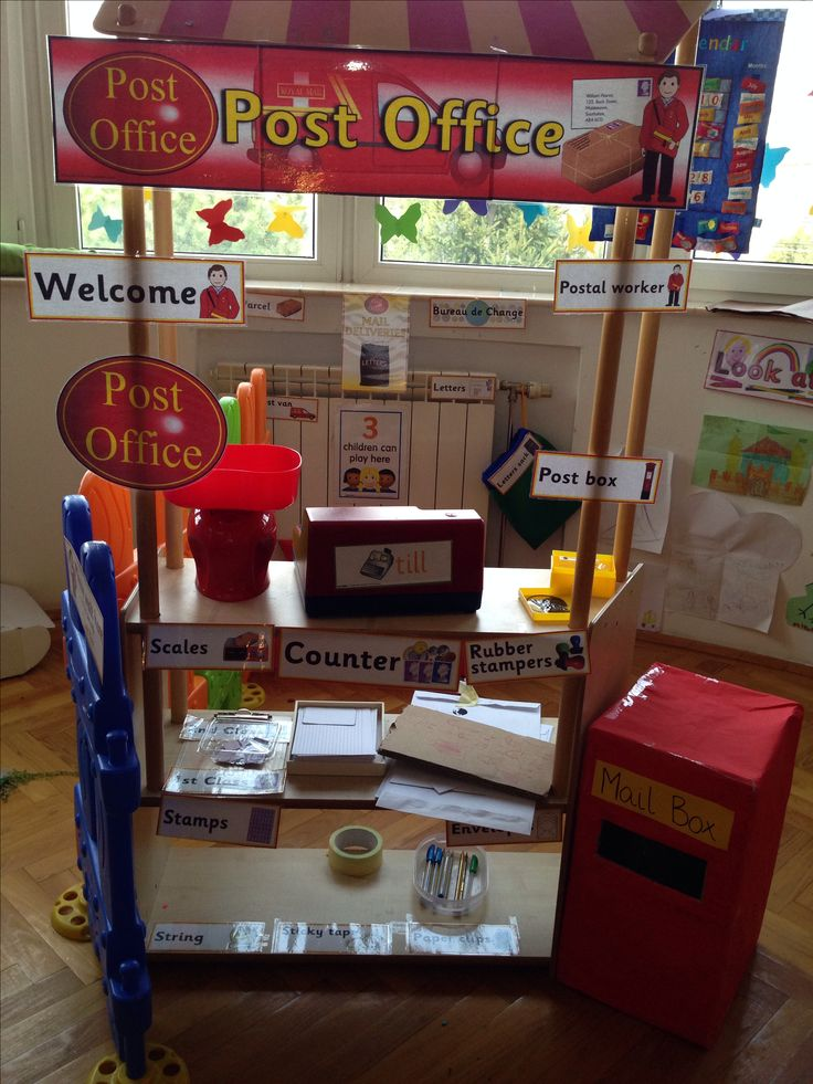 Role play area - post office