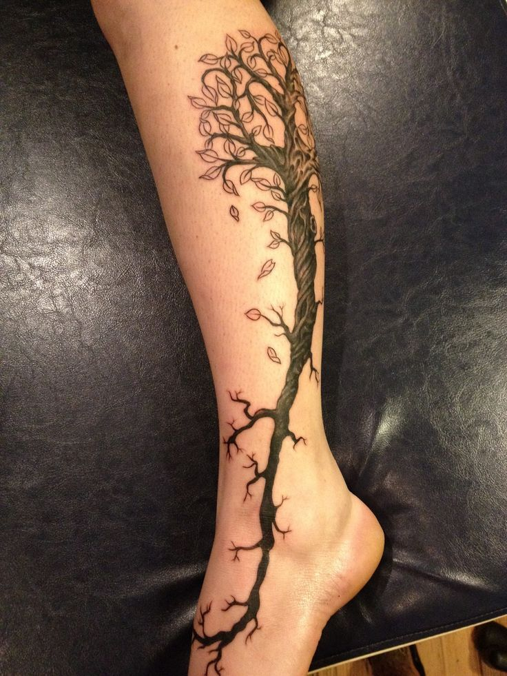 flower tattoos on calf - Google Search