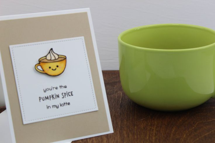 Pumpkin Spice Card, Coffee Lover Card, Best Friend Card, Card For Boyfriend, Coffee Cards, Just Because Cards, Blank on the Inside, Handmade