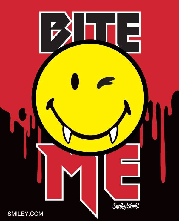 Bite me! I'm ready!!! Free download of all smiley icons  at www.smiley.com