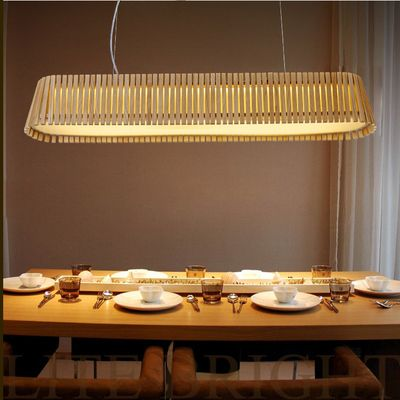 和風カントリー木製長方形ペンダントライト簡単なキッチンダイニングテーブルled中断照明器具ペンダント照明器具(China (Mainland))