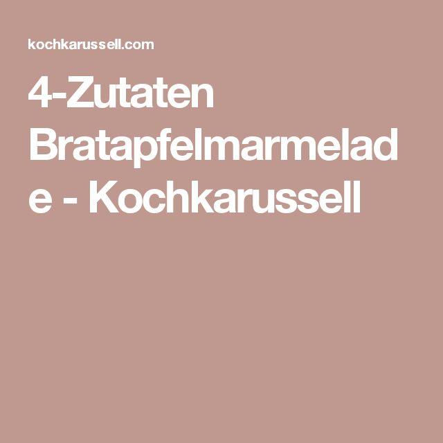 4-Zutaten Bratapfelmarmelade - Kochkarussell