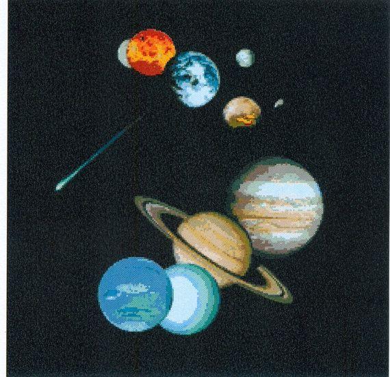 PDF Amazing Cross Stitch Pattern - Planets (M4) on Etsy, $2.50