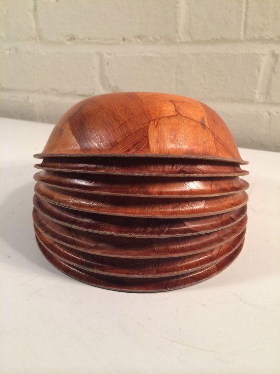 vintage formosa wooden salad bowls - Wooden Salad Bowls