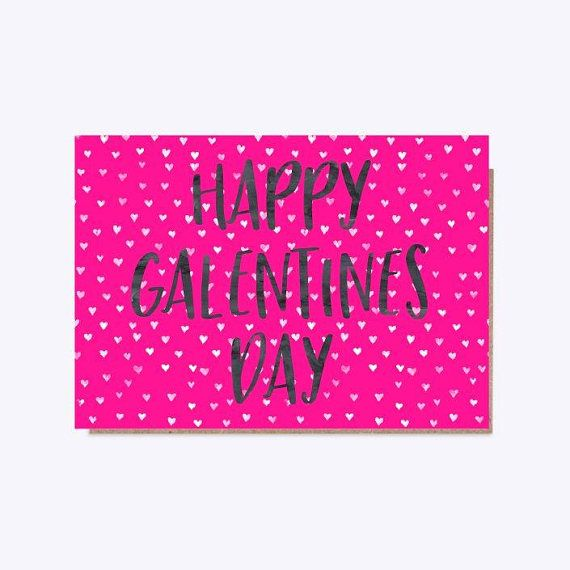 Let your gals know how much you love them with our Happy Galentines Day card. The card is A6 size - the inside is blank for your message. £2.75 YellowSunflowerInt  #greetingscard #Galentines