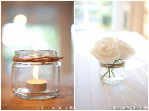 jam jar decorations /wedding reception decoration