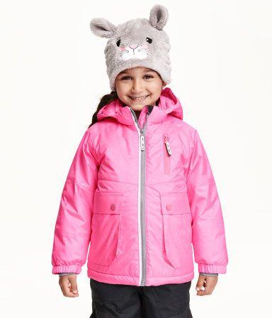 Wattierte Winterjacke   Neonrosa   Kinder   H&M DE