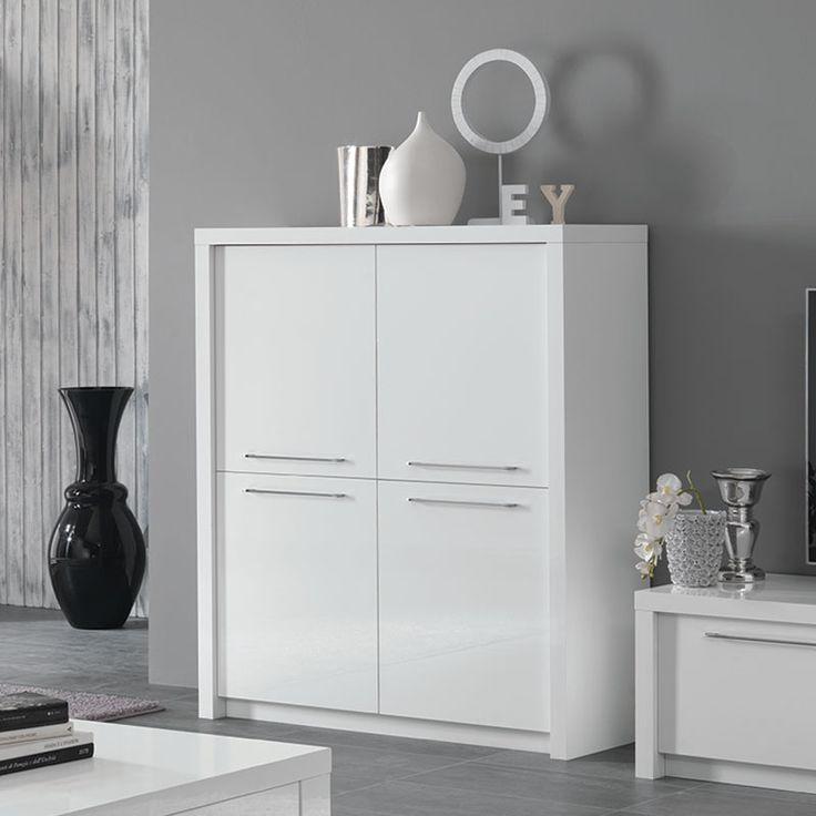 buffet haut blanc laqu design verona with buffet laqu blanc led with buffet blanc laqu ikea. Black Bedroom Furniture Sets. Home Design Ideas