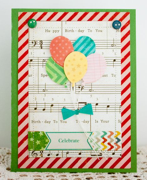 Lovely card Inspiration created using our Party Day Collection #cratepaper #partyday #papercrafts