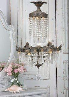 ❥ Belle Francaise Interiors: May 2010~ French chandelier via www.eloquenceinc.com