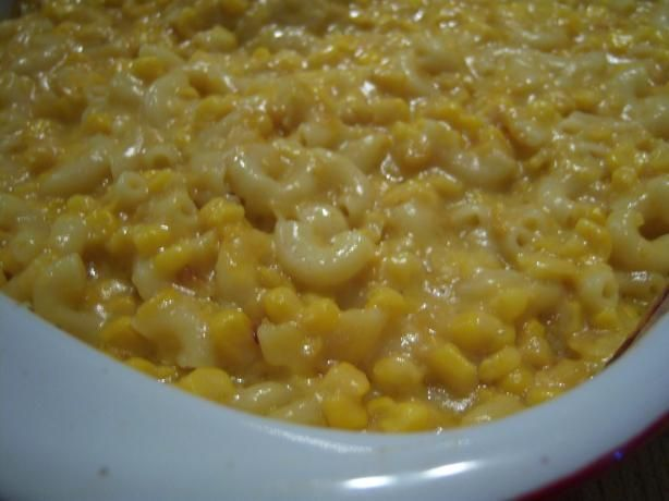 I've also seen this with velveeta.  I've never made it -- how do you make your corn/macaroni casserole?