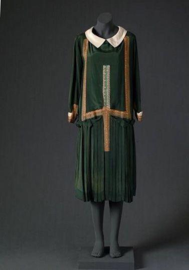 cac3f3c04eb Day dress, Jean Patou, 1925-1927. | 1920s style in 2019 | Fashion ...
