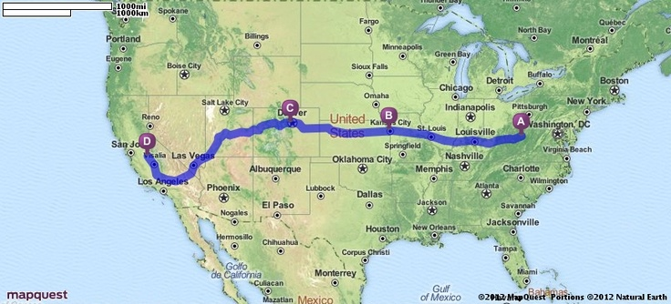 Driving Directions from Sutton, West Virginia to Madera, California | MapQuest